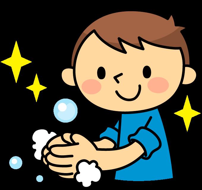 手洗いで感染対策