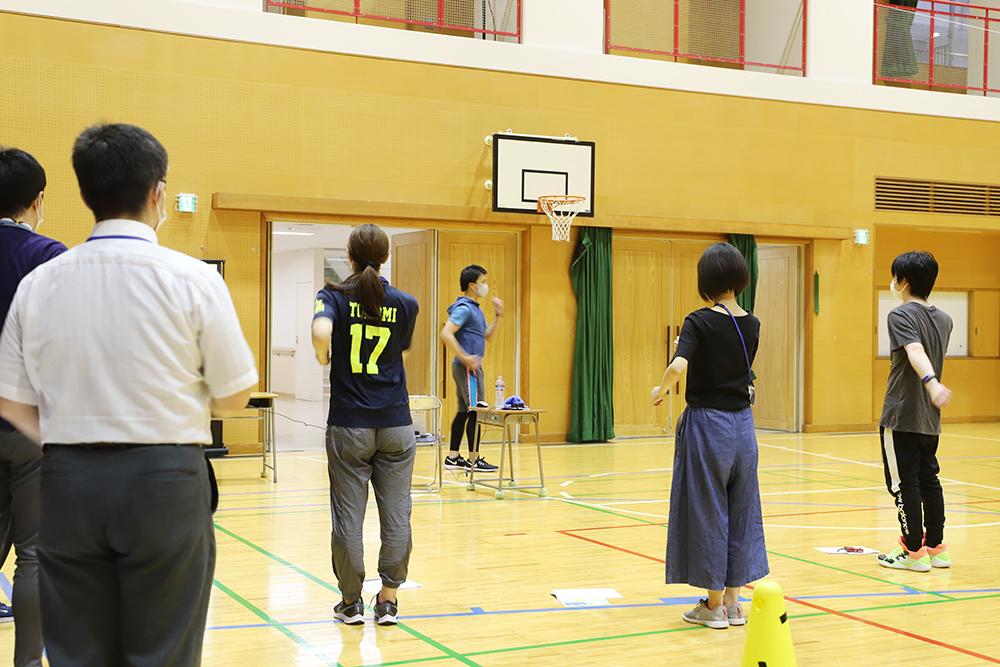 障害のある子どもの体育・実践編2回目の様子